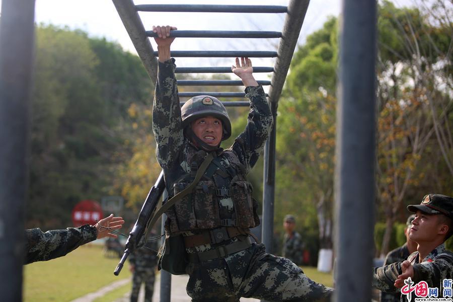 武警海南总队儋州支队组织特战小队比武竞赛